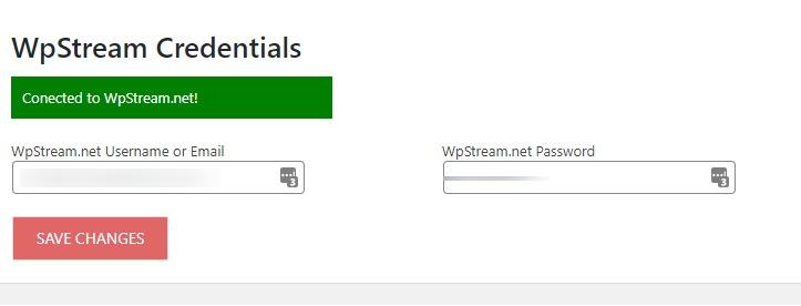 WP Stream Credentials