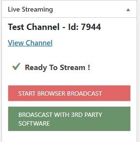 Ready to stream!